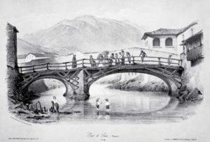 Litografia Ponte Susa