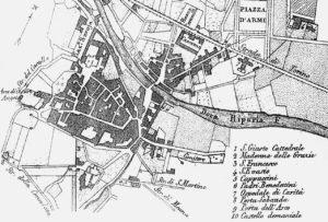 Pianta della città di Susa risalente al 1840.