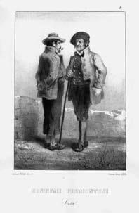 Costume di Susa, litografia di V. Garnier-Valetti (sec. XIX).