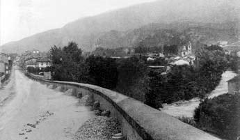 Susa, immagine della strada napoleonica del Moncenisio.