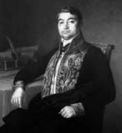 """Luigi Des Ambrois de Nevache (1807-1873). Immagine tratta da R. BORGIS, """"Luigi Des Ambrois de Nevache. Storia ritrovata di un protagonista del Risorgimento""""."""