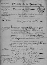 Autorizzazione ad esercitare la professione di Agrimensore (1808).
